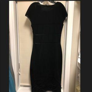Authentic Ferragamo black dress /side zipper. NWT